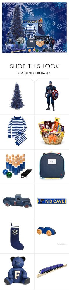 """""""CATHYS COLORFUL CHRISTMAS 2017 (BLUE)"""" by cathyvillalobos ❤ liked on Polyvore featuring interior, interiors, interior design, home, home decor, interior decorating, Hanna Andersson, State, Puma and Ikonic Toys"""