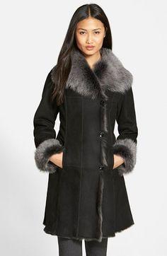 HYDESOCIETY raw edge genuine shearling coat - at Nordstrom - Fall 2015
