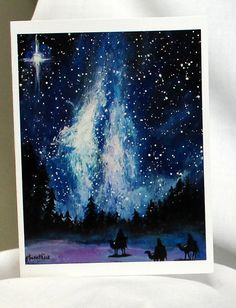Wise Men Journey Christmas card note card by ThisArtToBeYours