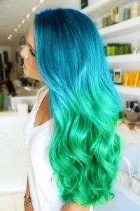 Pretty Aqua hair- if my hair was long I would think about this