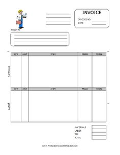 Contractor Receipt Template Free , Contractor Invoice Template for Effective Invoicing Procedures , It is always crucial for the contractor companies to have the effective invoicing procedures. The invoice should include all the important details cor. Printable Invoice, Invoice Template Word, Receipt Template, Bill Template, Printable Tags, Invoice Example, Invoice Format, Google Docs, Carpet Installation