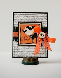 Halloween Card. Love the fringe and Twirly Twine!