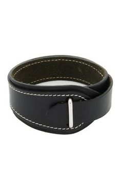 Vintage Hermes Leather Bracelet - Black