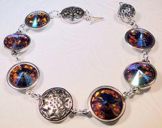 Swarovski Blazing Sun Fiery Bracelet. $40.00, via Etsy.