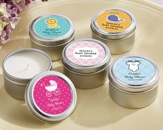 Personalized Candle Tin - Baby Shower
