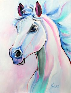 Horse Art an Acrylic Painting on Canvas by Valentina Miletic from Canada For sa&; Horse Art an Acrylic Painting on Canvas by Valentina Miletic from Canada For sa&; Horse Canvas Painting, Unicorn Painting, Unicorn Art, Painting & Drawing, Canvas Art, Buy Canvas, Knife Painting, Painting Wallpaper, Watercolor Horse