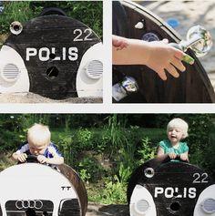 Gör en bil av en kabeltrumma! Så smart!