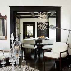 Tying the look together with a black & white palette. Interior designer Jessica Helgerson uses black and white to add a luxe touch to this traditional Portland home.