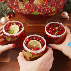 Jingle Juice Recipe Jingle Juice Recipe This Jingle Juice Holiday Punch recipe is simple, delicious, and beautiful! You just need three ingredients to craft this deliciou… Christmas Cocktails, Holiday Cocktails, Cocktail Drinks, Fun Drinks, Yummy Drinks, Alcoholic Drinks, Yummy Food, Drinks Alcohol, Alcohol Punch