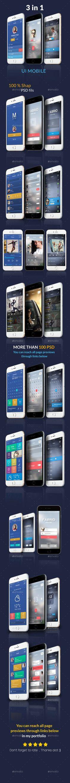 Mobile UI Kit 3 in 1  (User Interfaces)