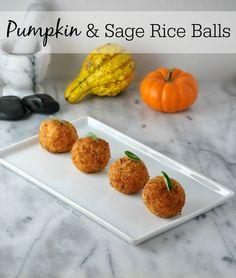 Vegan Pumpkin & Sage Rice Balls made with Follow Your Heart Vegan Cheese