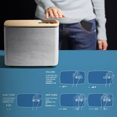 P.A.C.O. BLUETOOTH SPEAKERWITH GESTURAL CONTROLS