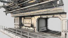 sci-fi hall environment builder design economic version 3d model max obj fbx 1