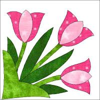Morning Glory Designs: New Block of the Month for 2010 -- Tulip Tiles