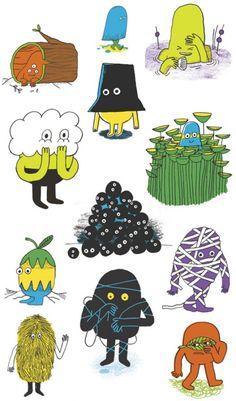 Andy J. Miller Illustration – little monster drawing a day – emotional character illustration Character Design Cartoon, Character Art, Modern Graphic Design, Graphic Design Inspiration, Photographie Street Art, Level Design, Zentangle, Cute Monsters, Arte Popular