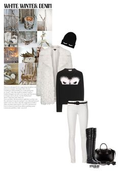 """""""On Trend: Winter White Denim"""" by marion-fashionista-diva-miller ❤ liked on Polyvore featuring Topshop, Fendi, Givenchy, Dolce&Gabbana, Christian Dior, denim and winterwhite"""