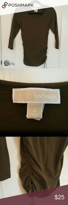 Michael Kors top Olive green, super soft.  Size small Michael Kors Tops Tees - Long Sleeve