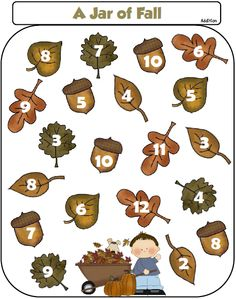 A Jar of Fall - Free Math Games for addition and multiplication