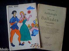 Paul Fort Ballades 1918 Dédicace Signé Ortiz Echague Jaquette dessin Original