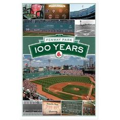 Amazon.com: (22x34) Boston Red Sox Fenway Park 100 Years Sports Poster: Home & Kitchen