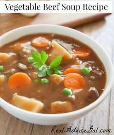 Check out this Vegetable Beef Soup Recipe & Menu Plan