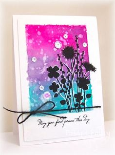 WT493 Spritzed Wildflowers by bfinlay - Cards and Paper Crafts at Splitcoaststampers