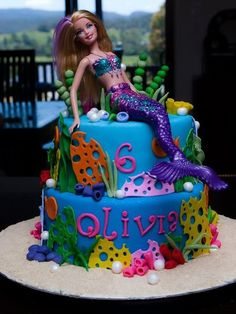 Mermaid Barbie Cake | Barbie Cake Ideas | Barbie Cake Designs | Barbie Cake | Barbie Gown Cake | Ken | Birthday Party | Birthday Cake for Girls | Barbie Princess Cake | Barbie Doll Cake | Barbie Doll Theme Cake | @purplevelvetpro | www.purplevelvetproject.com |