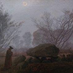 CARAVAGGISTA - Caspar David Friedrich, A Walk at Dust (c....