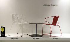 BOLONIA armchair, EIVISSA table & ATHENS armchair by iSi Design Group.