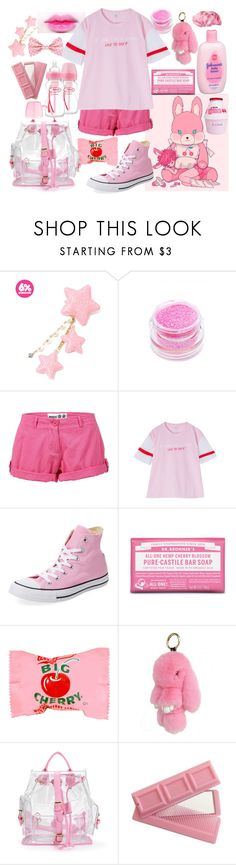 """""""Cherry Bunny Boy"""" by drhumanguy ❤ liked on Polyvore featuring GET LOST, Johnson's Baby, Medusa's Makeup, Musto, Converse, Dr. Bronner's, cute, Pink, pastel and cherry"""