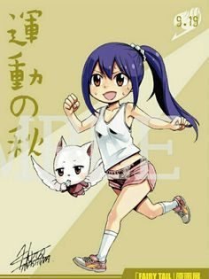 Wendy Marvell and Carla (Fairy tail) by Fairy News
