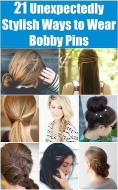 21 Unexpectedly Stylish Ways to Wear Bobby Pins (Cute and easy hairstyles)