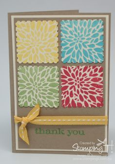 Stampin' Up! Australia – Independent Demonstrator, Tanya Bell Bundaberg » Blog Archive » Thank you Cards with Betsy's Blossom