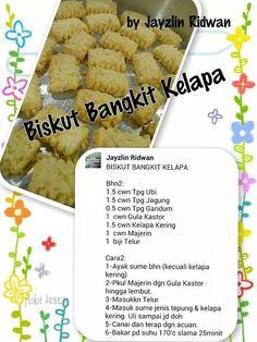 Biskut bangkit kelapa Brownie Cookies, Cake Cookies, Cookie Recipes, Snack Recipes, Snacks, Indonesian Food, Indonesian Recipes, Biscuit Recipe, Recipe Cards