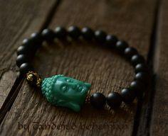Strength- Men's Beaded Bracelet, Buddha Bracelet, Men Jewelry, Tibetan Jewelry, Men Yoga Bracelet, Men Bracelets, Buddha, Chakra Bracelet by CandiedBohemian , $31.50 @Etsy