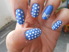 Bow Nail Art Design - Simple Nail Art Designs  You can do this design using Dotting tools and Nail stickers. Another great Nail art design for Parties.