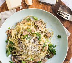 Recept - Spaghetti al Funghi - Euroma Penne, Pasta Recipes, Spices, Favorite Recipes, Healthy Recipes, Ethnic Recipes, Food, Euro, Drinks