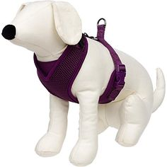 Petco Adjustable Mesh Harness for Dogs in Plum -- Check this awesome product by going to the link at the image.