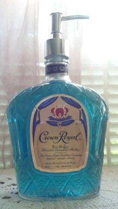 Crown Royal Whiskey Glass Bottle Lotion/Soap by PattiesPassion, $24.99