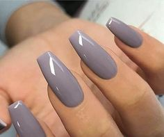 Wonderful gray nail polish we love the look of soft, subtle nails for the bride, the bridesmaids Mauve Nails, Gray Nails, Oxblood Nails, Magenta Nails, Nails Turquoise, Grey Nail Polish, Nail Polish Colors, Color Nails, Best Acrylic Nails