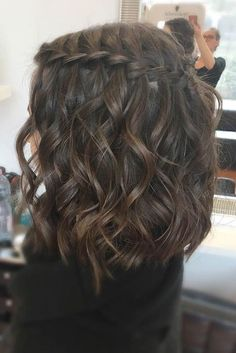 33 Romantic Looks with a Waterfall Braid # Braid .- 33 Romantische Looks mit einem Wasserfall Braid # Braid 33 romantic looks with a waterfall braid # braid - Prom Hairstyles For Short Hair, Braids For Short Hair, Box Braids Hairstyles, Short Braided Hairstyles, Festival Hairstyles, Heart Hairstyles, Pretty Hairstyles, Teenage Hairstyles, Semi Formal Hairstyles
