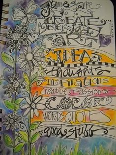 lettering page by Joanne Sharp. Sharla Hicks states: I have taken her  lettering class in person and online, both well worth the $s and time investment!