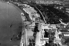 Luftaufnahme Ausstellungsgelände 1926 - Ehrenhof und Rheinterassen
