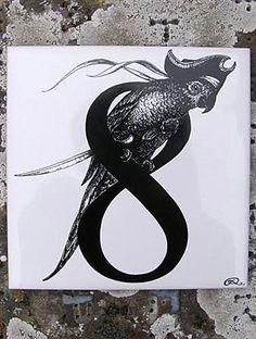 8- Rory Dobner Number Art Ceramic Tile