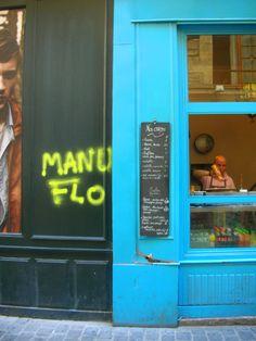Crêpes, rue des Rosiers, Marais, Paris.