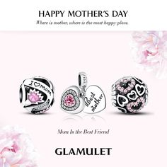 Mother's Day Charms ❤ 100 free bracelets giveaway ❤ Share charms on www.glamulet.com to save extra 10% off until 9th May,2016. #Glamulet jewelry