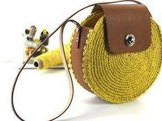 40 ideas knitting bag diy handbags for 2019 Crochet Shell Stitch, Crochet Tote, Crochet Handbags, Crochet Purses, Crochet Bag Tutorials, Diy Sac, Diy Handbag, Macrame Bag, Basket Bag