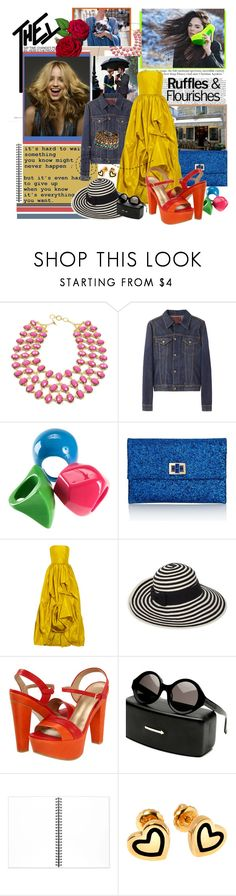 """Untitled #618"" by rachel-is-epic ❤ liked on Polyvore featuring Amrita Singh, R13, Karl Lagerfeld, H&M, Anya Hindmarch, Oscar de la Renta, Kate Spade, Stuart Weitzman, Muji and Hillier London"