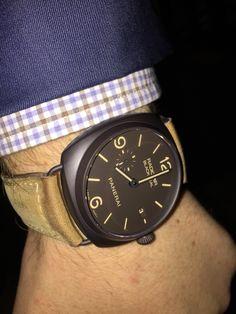 Pam 505 Panerai Radiomir, Wood Watch, Smart Watch, Watches, Accessories, Fashion, Wooden Clock, Wrist Watches, Moda