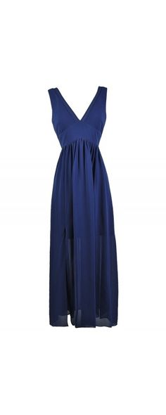 Lily Boutique Simply Perfect Chiffon Maxi Dress in Blue, $38 Royal Blue Maxi Dress, Cute Blue Dress, Blue Summer Dress, Blue Full Length Dress, Bright Blue Maxi Dress www.lilyboutique.com